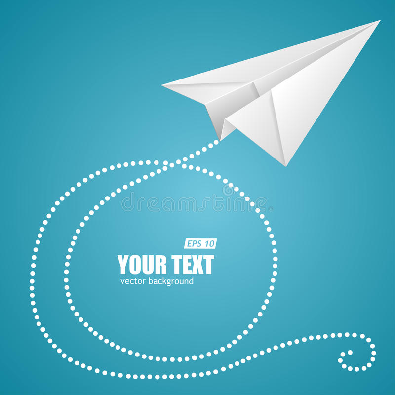 Free White Paper Plane On Blue Sky And Text Box Stock Photography - 48590282