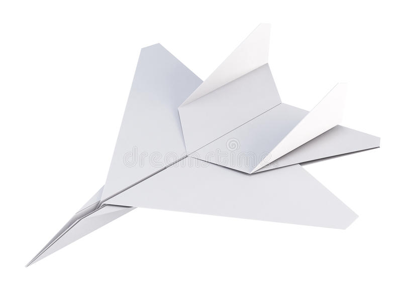 Download White Paper Plane On A Background 3d Rendering Stock Illustration