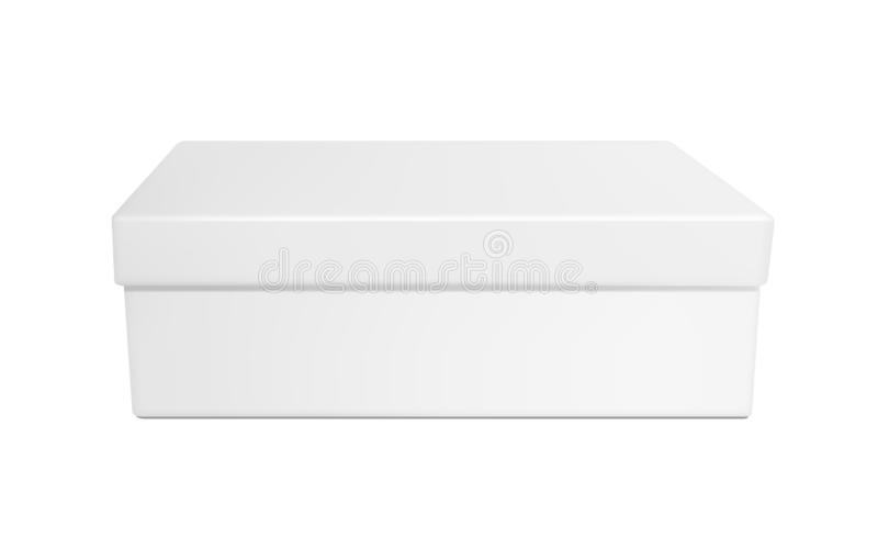 White paper or plastic box with lid stock illustration