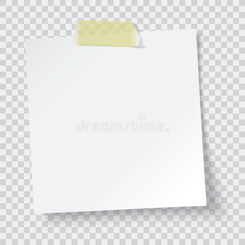 White paper reminder. Vector illustration vector illustration