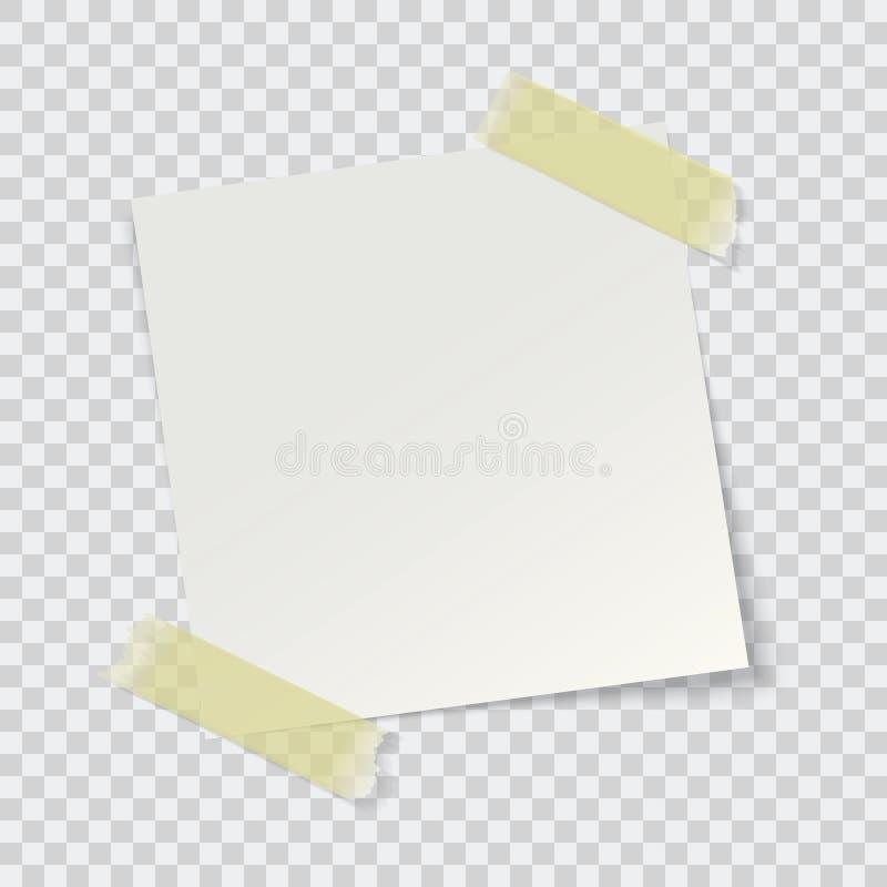 White paper reminder. Vector illustration royalty free illustration
