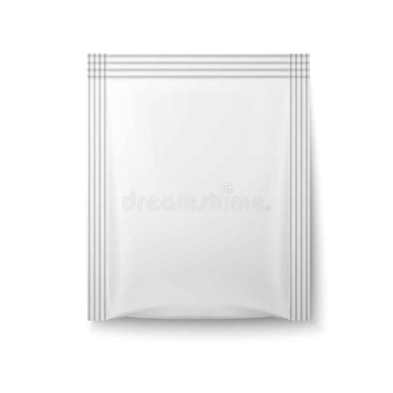 Free White Paper Sachet Bag. Royalty Free Stock Image - 33624906
