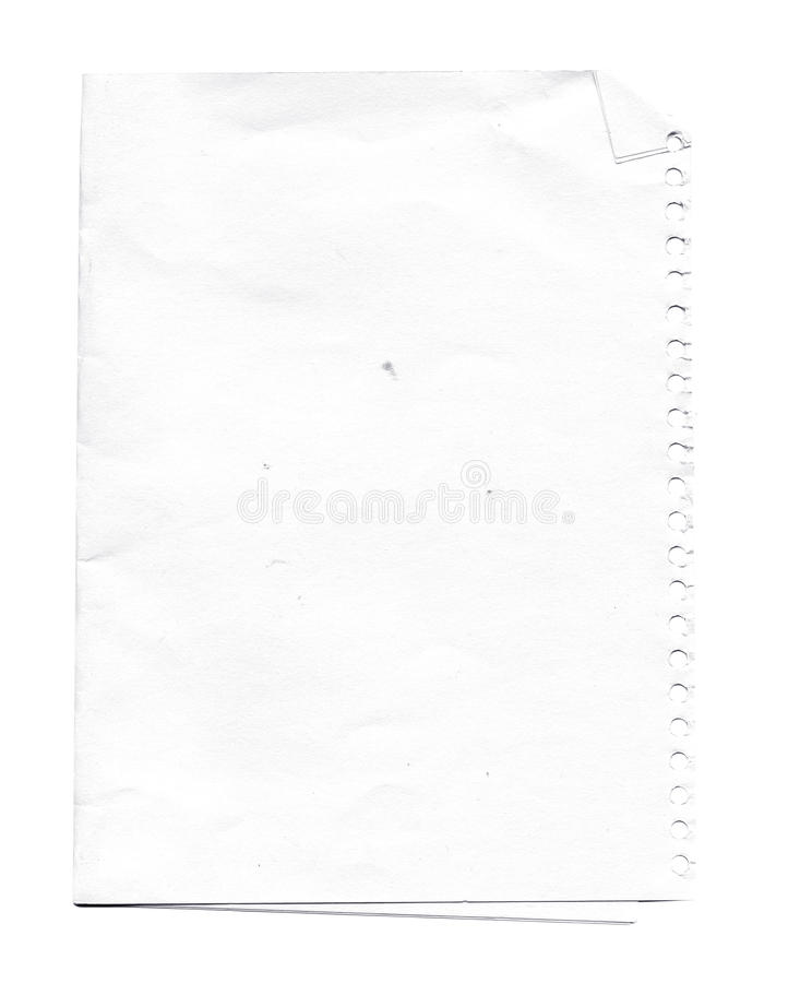 White Paper sheet isolated royalty free stock photos