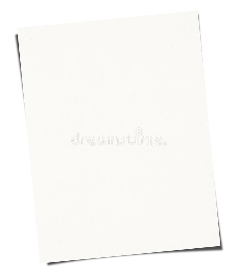 White Paper sheet isolated on white background. High resolution stock image