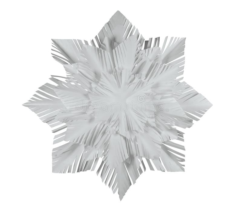 Paper snowflake - white royalty free stock photo