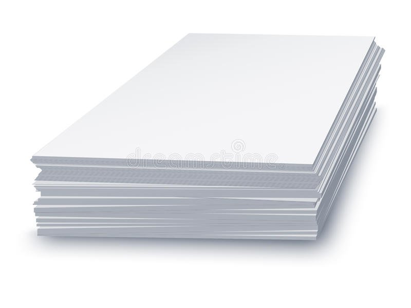 Download White paper stacked stock illustration. Illustration of object - 28896501