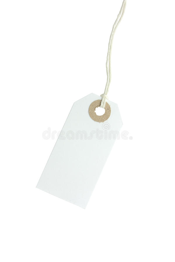 White paper tag royalty free stock image