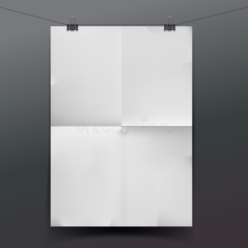 White paper texture or background royalty free illustration