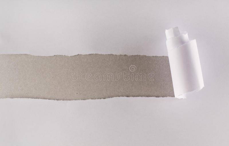 Download White Paper Torn Revealing Gray Cardboard Layer Stock Photo - Image: 17427134
