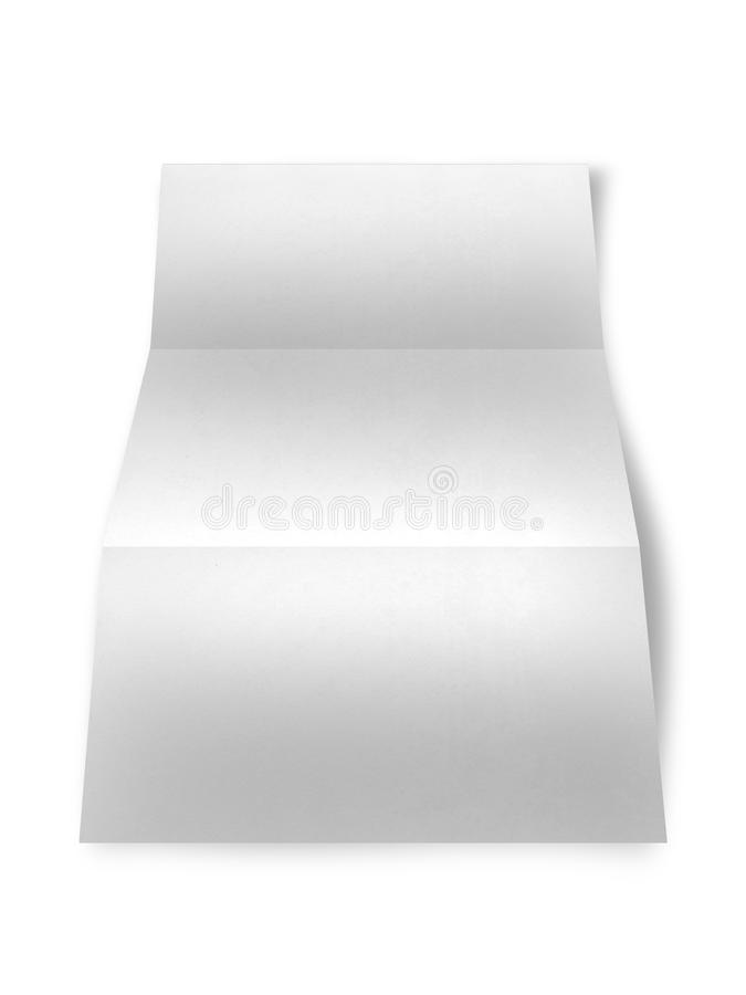 White paper on white background. Close up of a paper on white background royalty free illustration