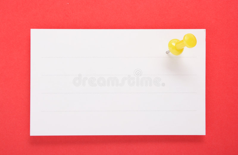 Download White Paper And Yellow Push Pin On Red Background(with Clipping Stock Photos - Image: 1887763