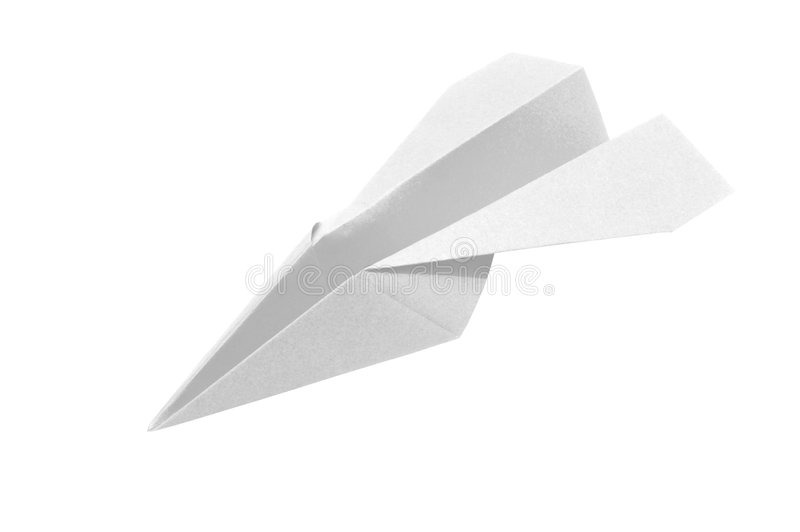White_paperplane_1 fotografia de stock royalty free