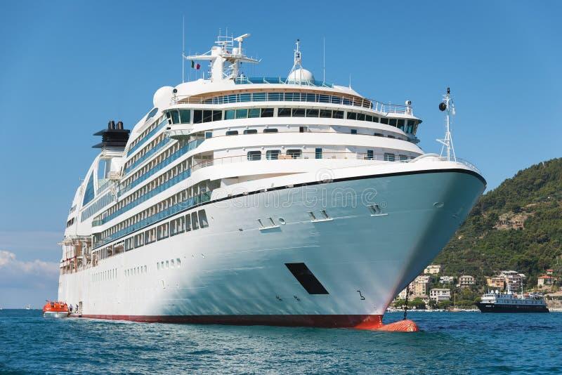 White passenger ship stock image