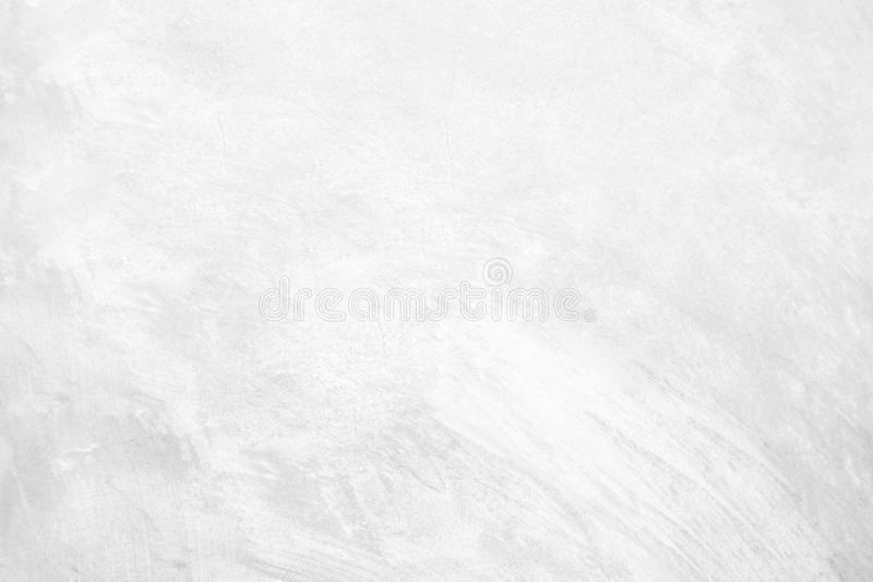 White pastel rough crack cement texture stone concrete,rock plastered stucco wall; painted flat fade background gray solid floor. Grain stock images