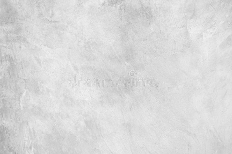 White pastel rough crack cement texture stone concrete,rock plastered stucco wall; painted flat fade background gray solid floor. Grain royalty free stock images
