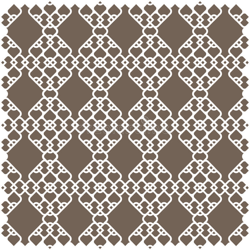 White pattern in islamic style royalty free illustration