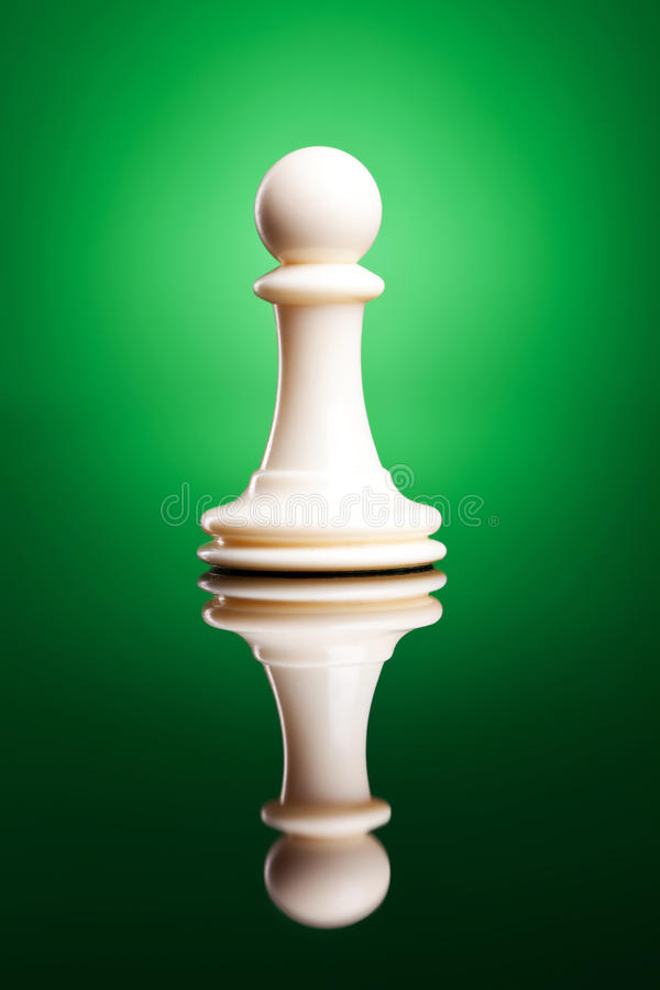 White pawn royalty free stock photography