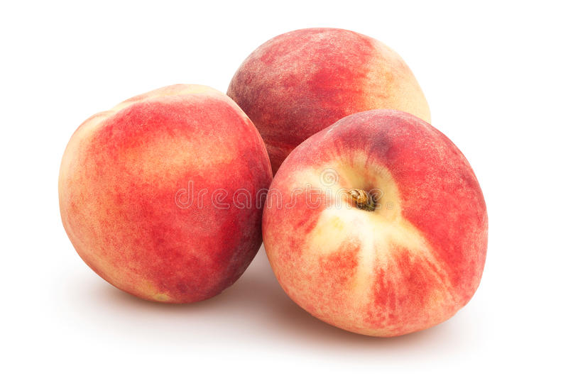 White peaches stock photos