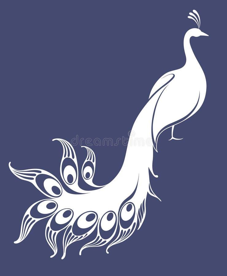 White peacock stock illustration