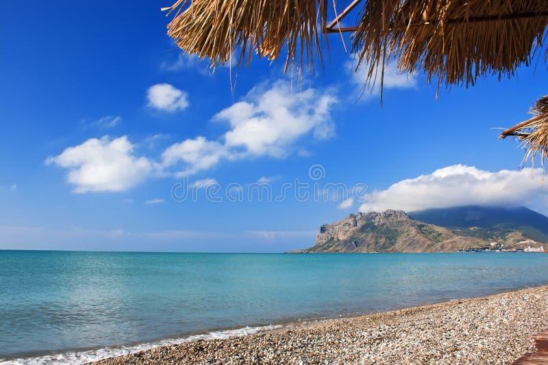 White Pebble On The Beach Of Crimea Royalty Free Stock Photos