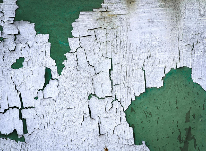 White peeled paint. Abstract background or texture eroded white synthetic paint stock images