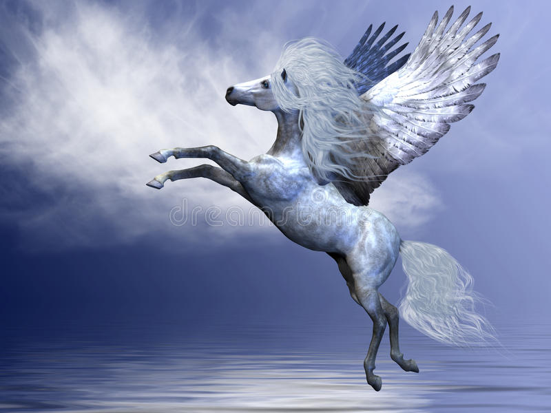 Download White Pegasus stock illustration. Image of beauty, pegasus - 17784615