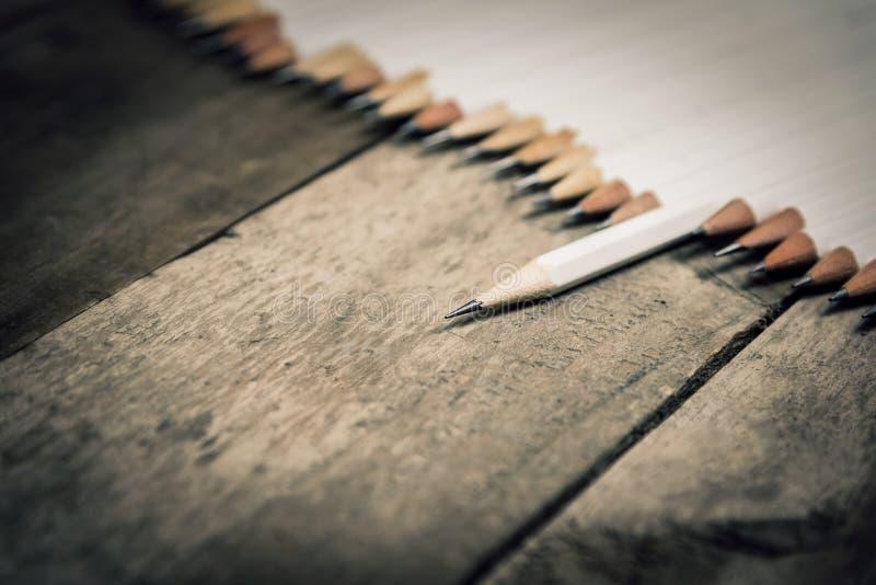 White pencil royalty free stock photo