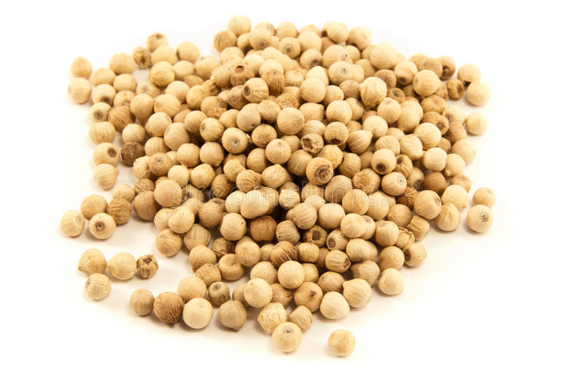 Download White pepper grains stock image. Image of spice, flavour - 17073967