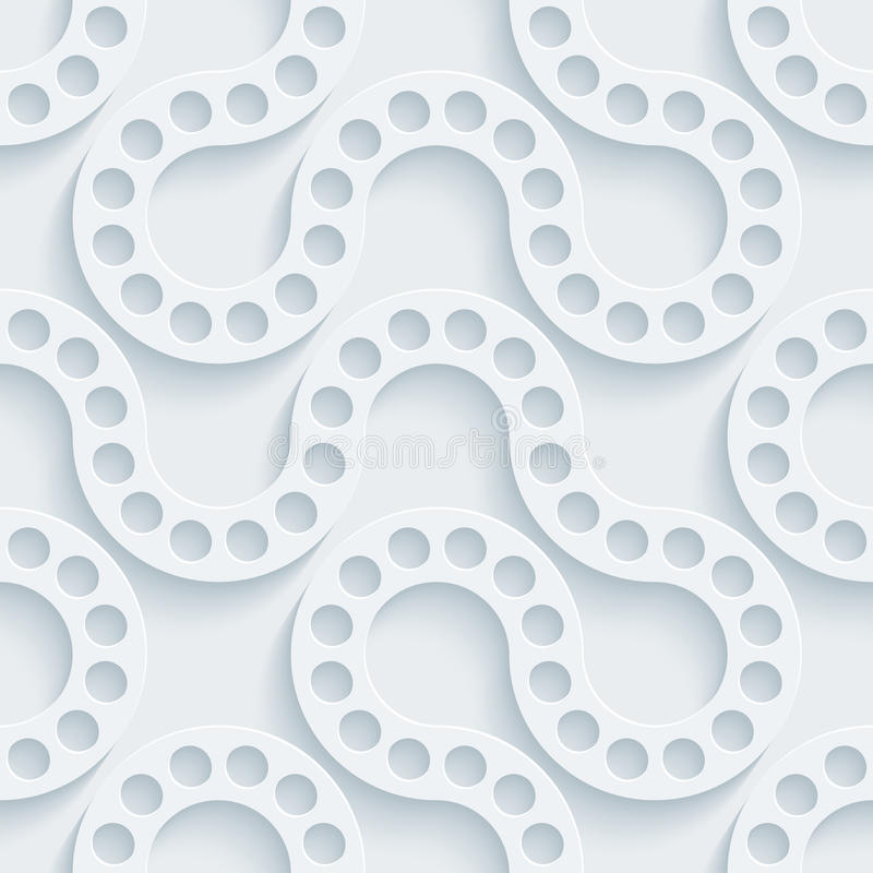 White perforated paper. stock photo