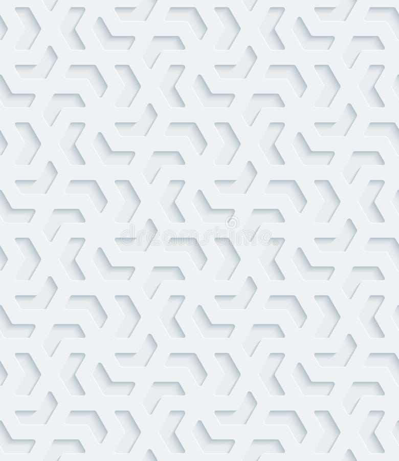 White perforated paper. White perforated paper with cut out effect. Abstract 3d seamless background. Vector EPS10 stock illustration