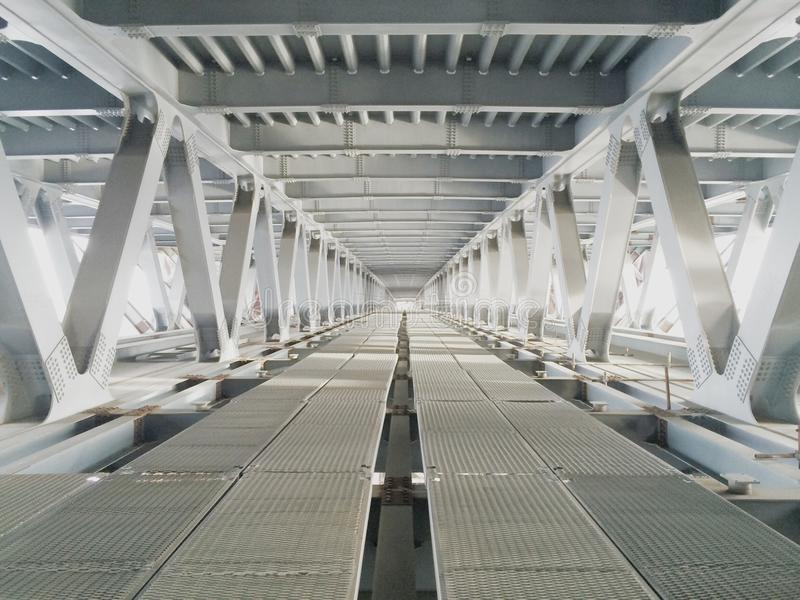 White perspective on the bridge stock images