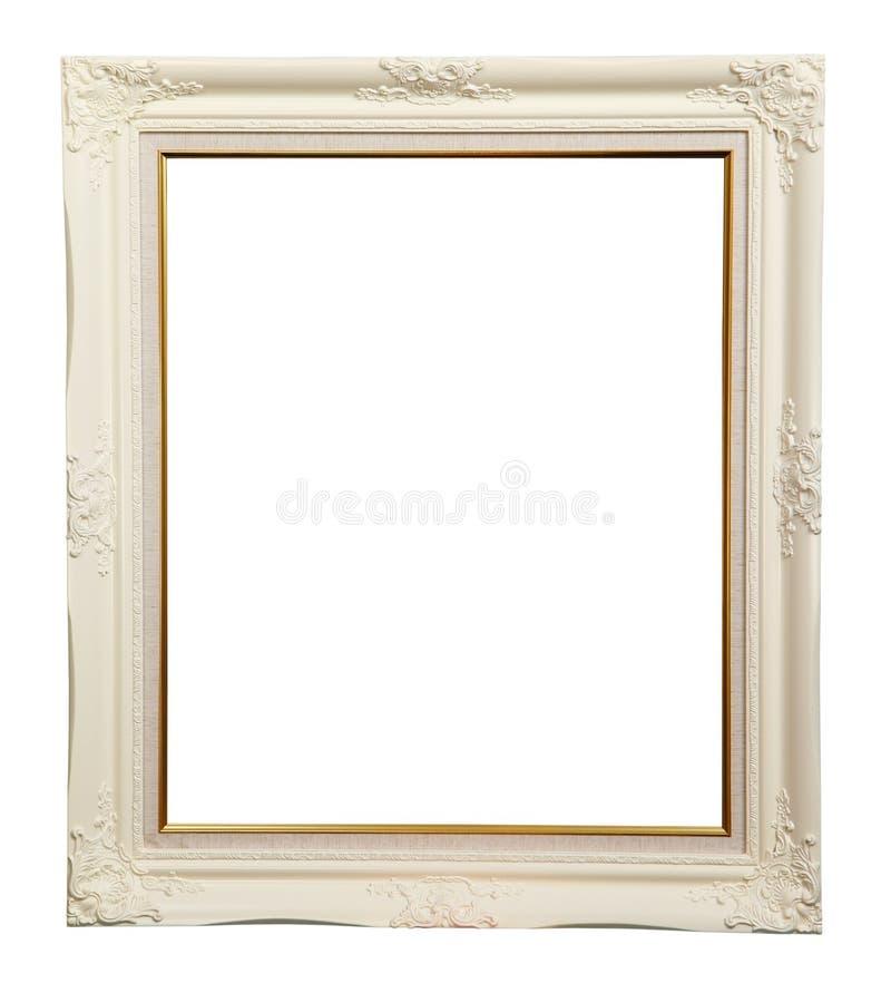White photo frame stock photography