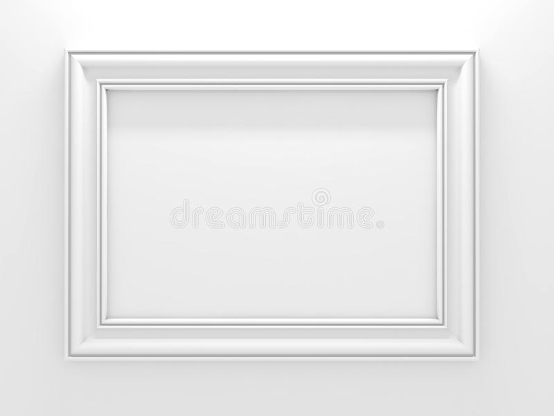 Download White photo frame. stock illustration. Illustration of stripe - 27146498