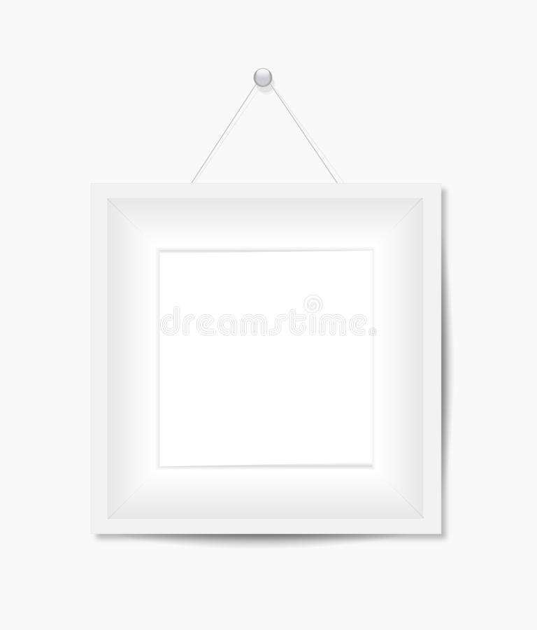 White Photo Frame Royalty Free Stock Image