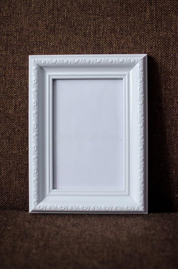 White photo frame stock images