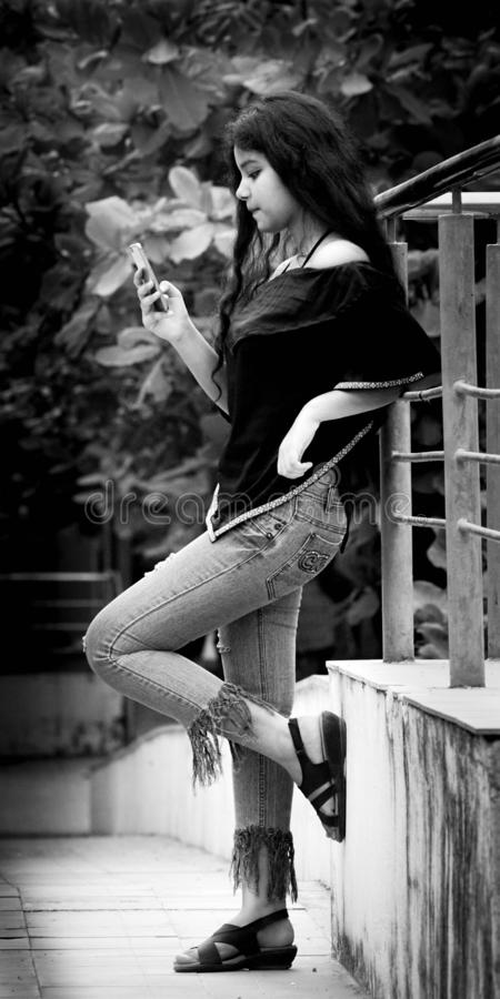 White, Photograph, Black, Woman stock image