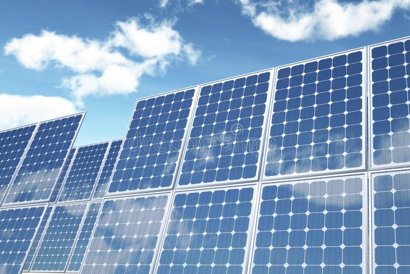 On White Photovoltaic Panel Stock Photos