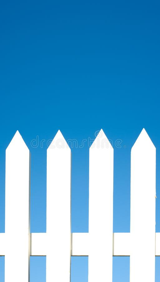 White Picket Fence Background stock photography