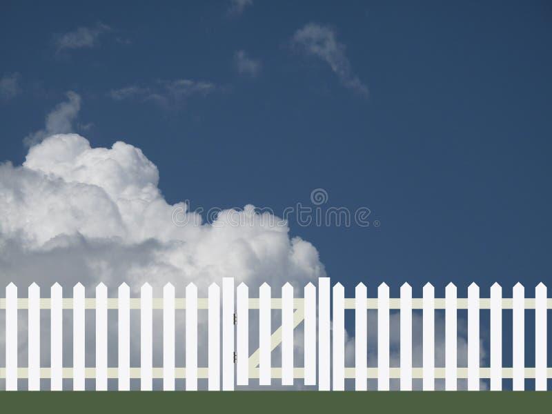 White picket fence stock illustration