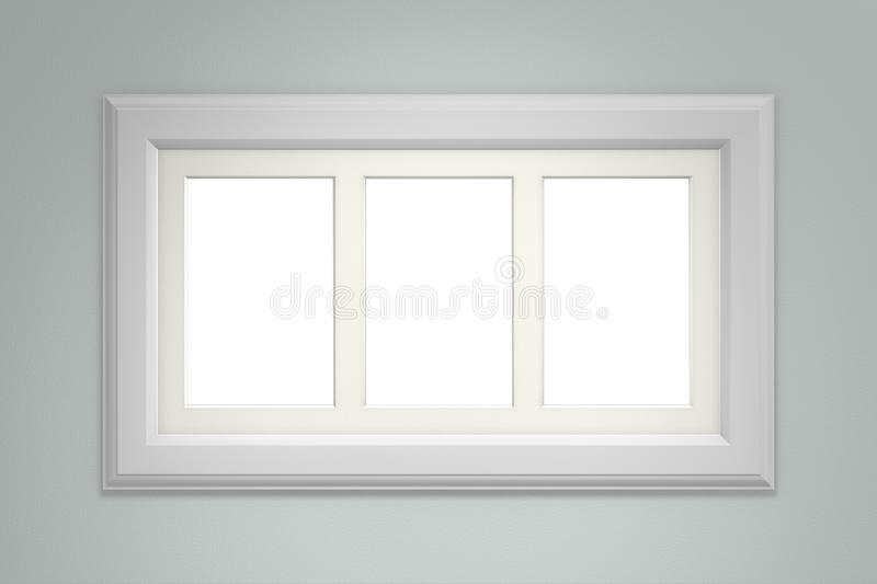 Download White Picture Frame On Gray Wall Stock Illustration - Illustration of gallery, minimalist: 109360203