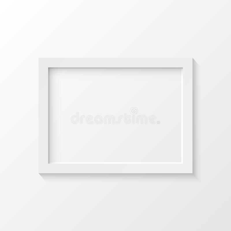 White picture frame vector illustration royalty free illustration