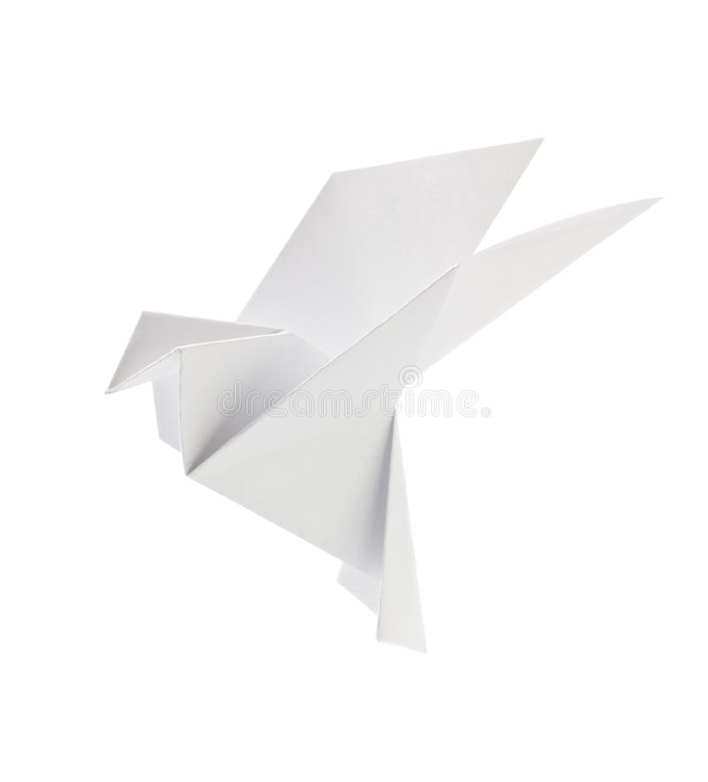 White pigeon of origami royalty free stock photos