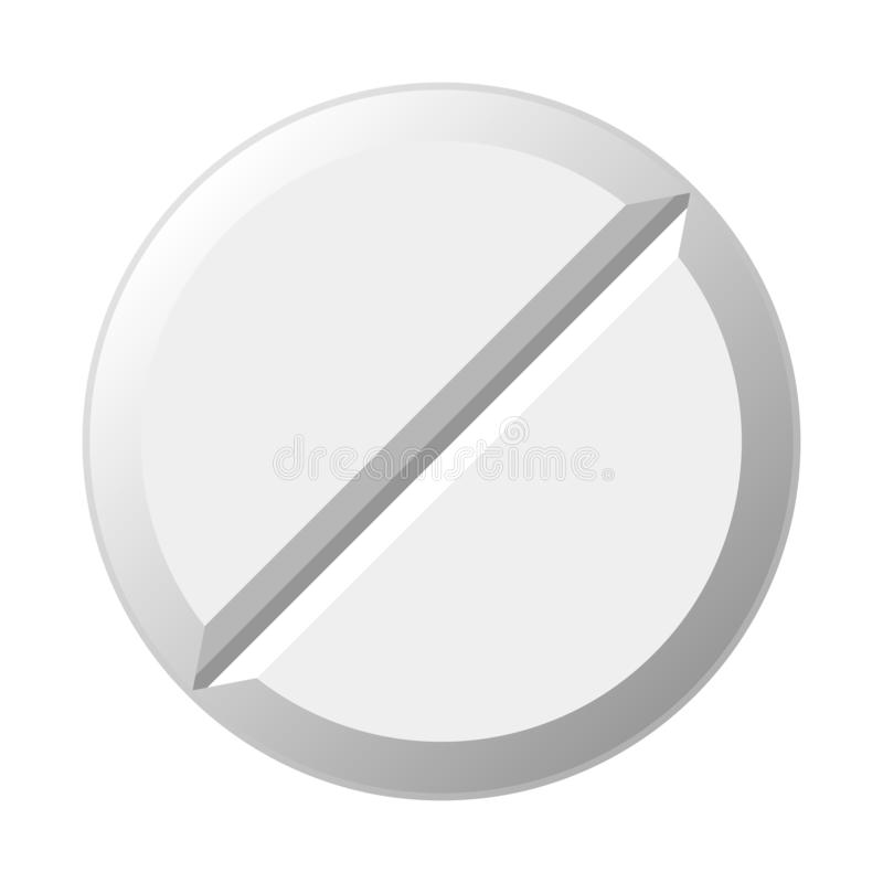 White pill. Vector royalty free illustration