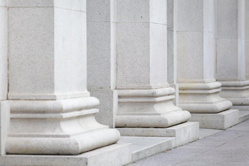 White pillar royalty free stock photos