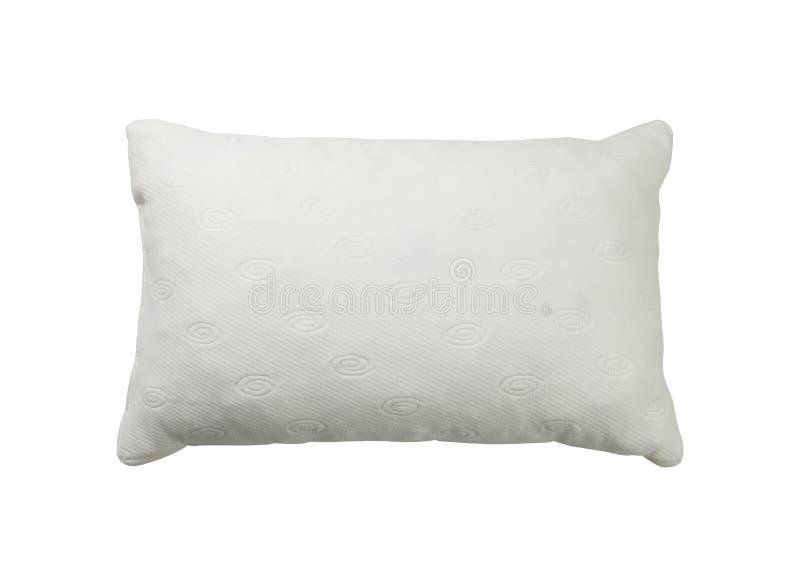 White pillow. Isolated on white background royalty free stock photo
