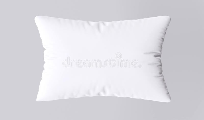 White pillow. On gray background. 3d image vector illustration