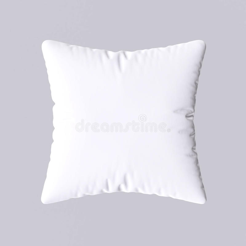 White pillow. On gray background. 3d image royalty free illustration