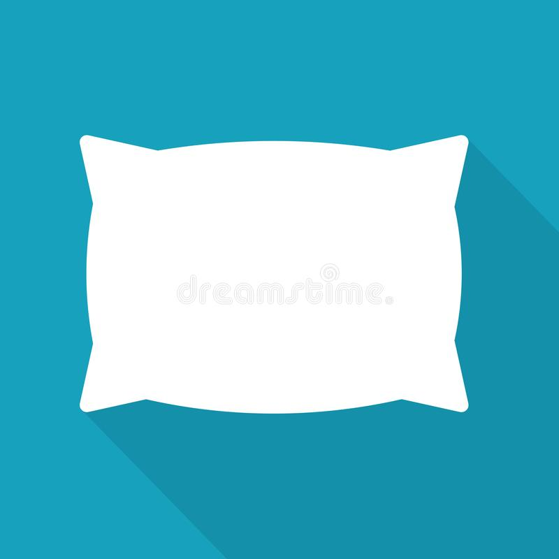 White pillow icon. Vector illustration vector illustration