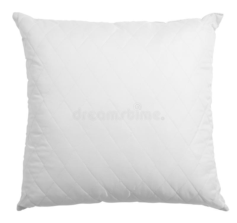 White pillow isolated stock photography