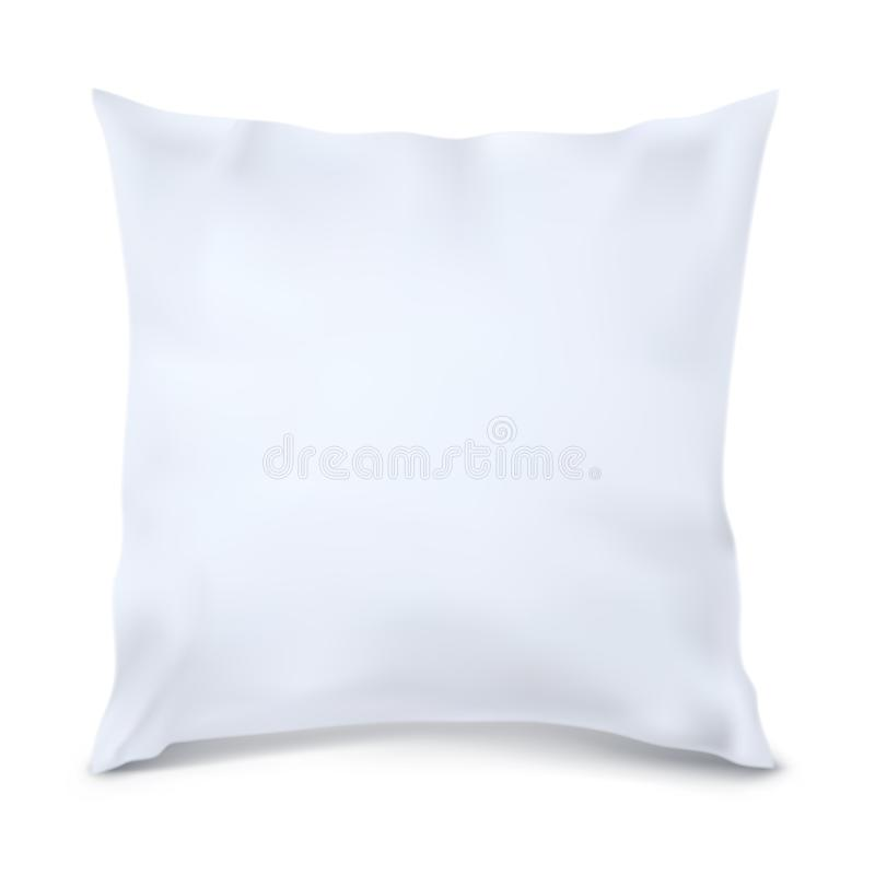 White Pillow Square. Vector. Mock Up. White Pillow Square vector illustration